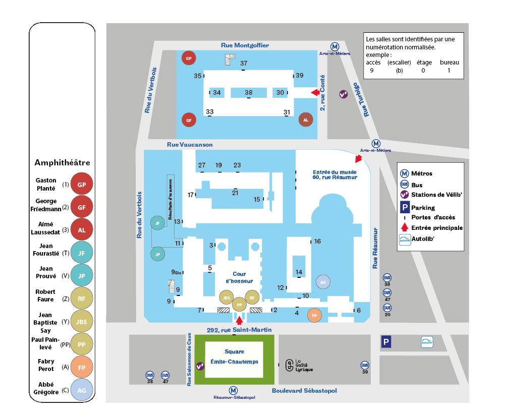 Paris 3e amphi plan